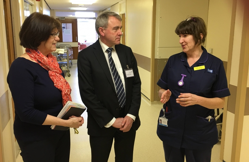Robert Goodwill visits Whitby Hospital