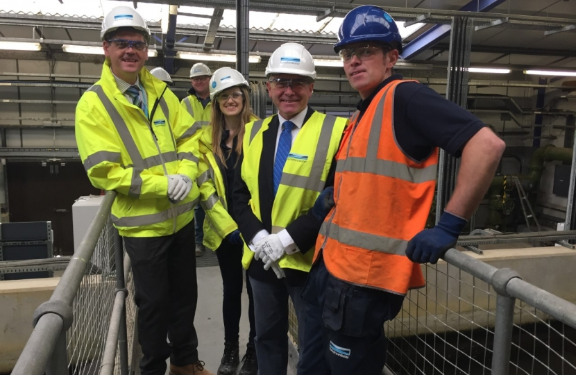 Robert Goodwill MP visits £17 million investment project to improve Scarborough's drinking water