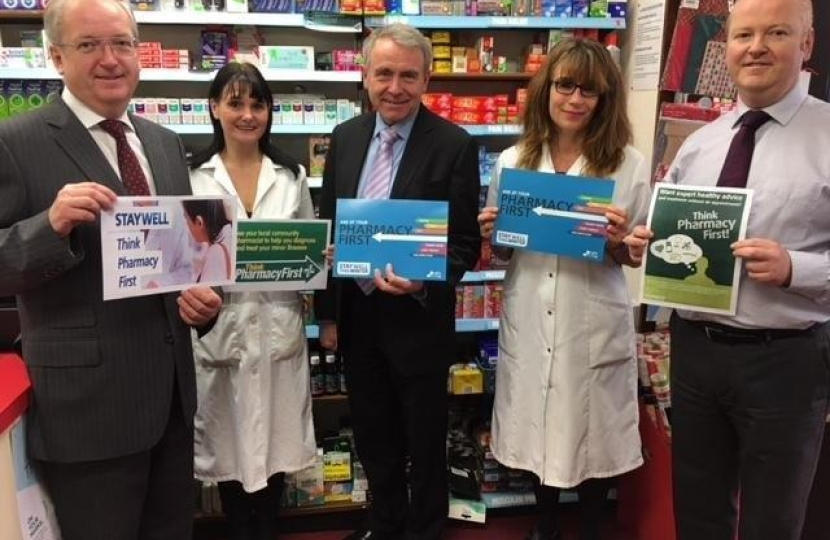 Scarborough and Whitby MP Robert Goodwill visits local pharmacy.