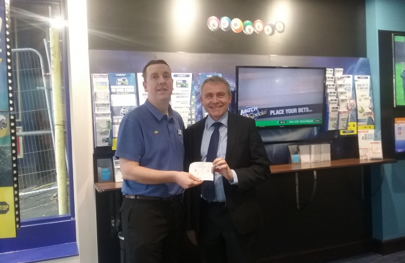 Robert Goodwill MP visited the local Ladbrokes Coral shop in his constituency to place a £50 charity bet ahead of the Grand National