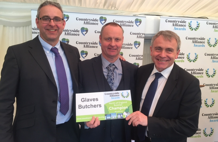 Local Butchers, Glaves Butchers, from Brompton have been recognised at the Countryside Alliance Awards in London
