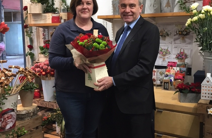 Robert Goodwill MP visits Louise Florists to support Small Business Saturday in Scarborough