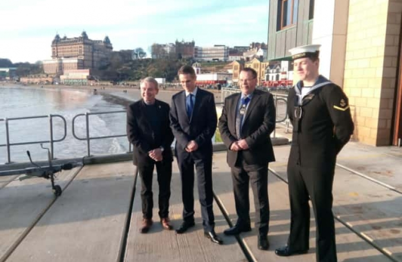 Warship HMS Duncan to be affiliated with Scarborough, Defence Secretary Gavin Williamson announces on visit to town