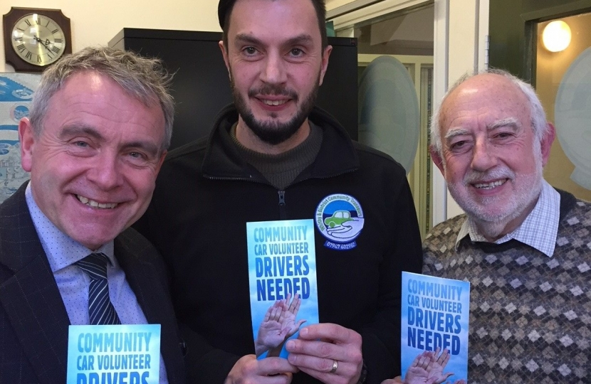 MP JOINS THE CALL FOR MORE VOLUNTEER DRIVERS