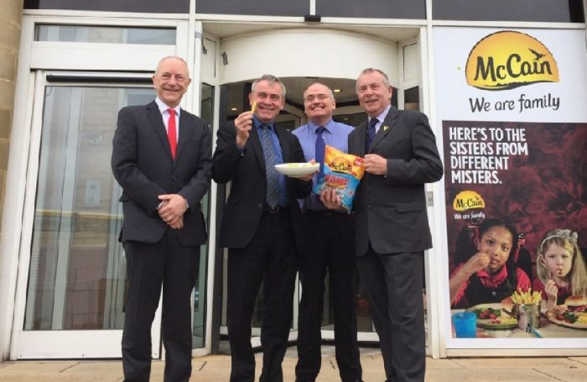 Robert Goodwill MP visits Scarborough firm McCain in first engagement as Farming Minister