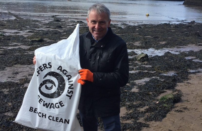 Robert Goodwill MP took part of the Whitby Sweep with Surfers Against Sewage