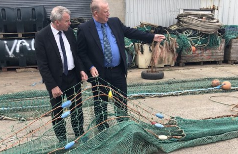 Fisheries Minister Robert Goodwill meets local fishing groups in Northern Ireland