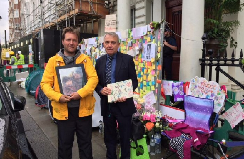 MP Robert Goodwill shows solidarity to family of Nazanin Zaghary-Ratcliffe, the British mum jailed in Iran