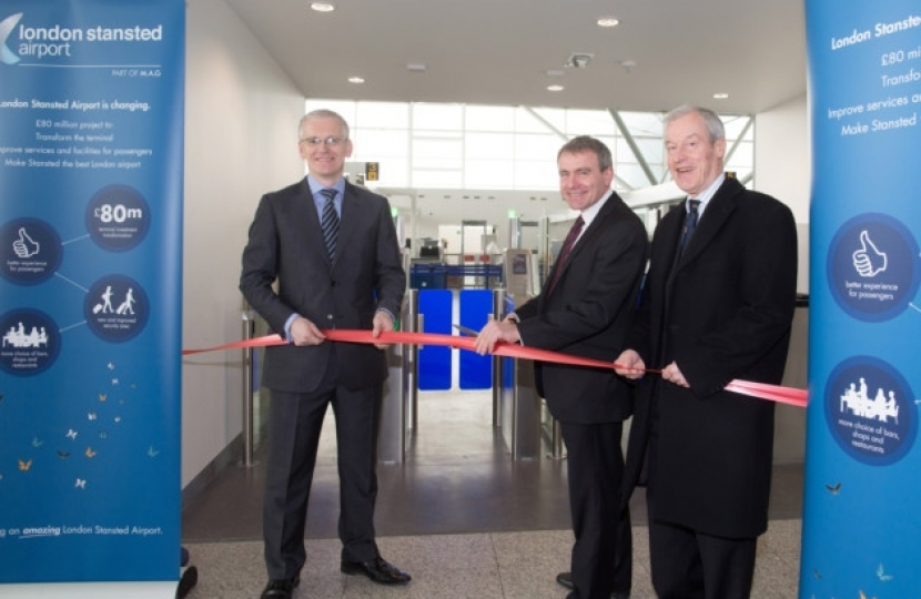 A new and enlarged security search area at Stansted Airport has been officially